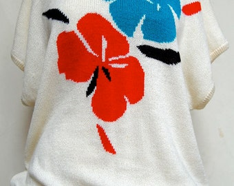 Vintage Lunch on the Lanai Knitted oversized top.
