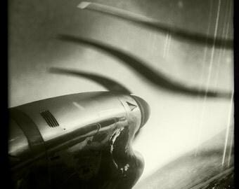 Airplane Propeller Engine In Flight, Airplane Decor, Aviation, Vintage Aircraft, 10x10 Photograph, Airline, Propeller Blades