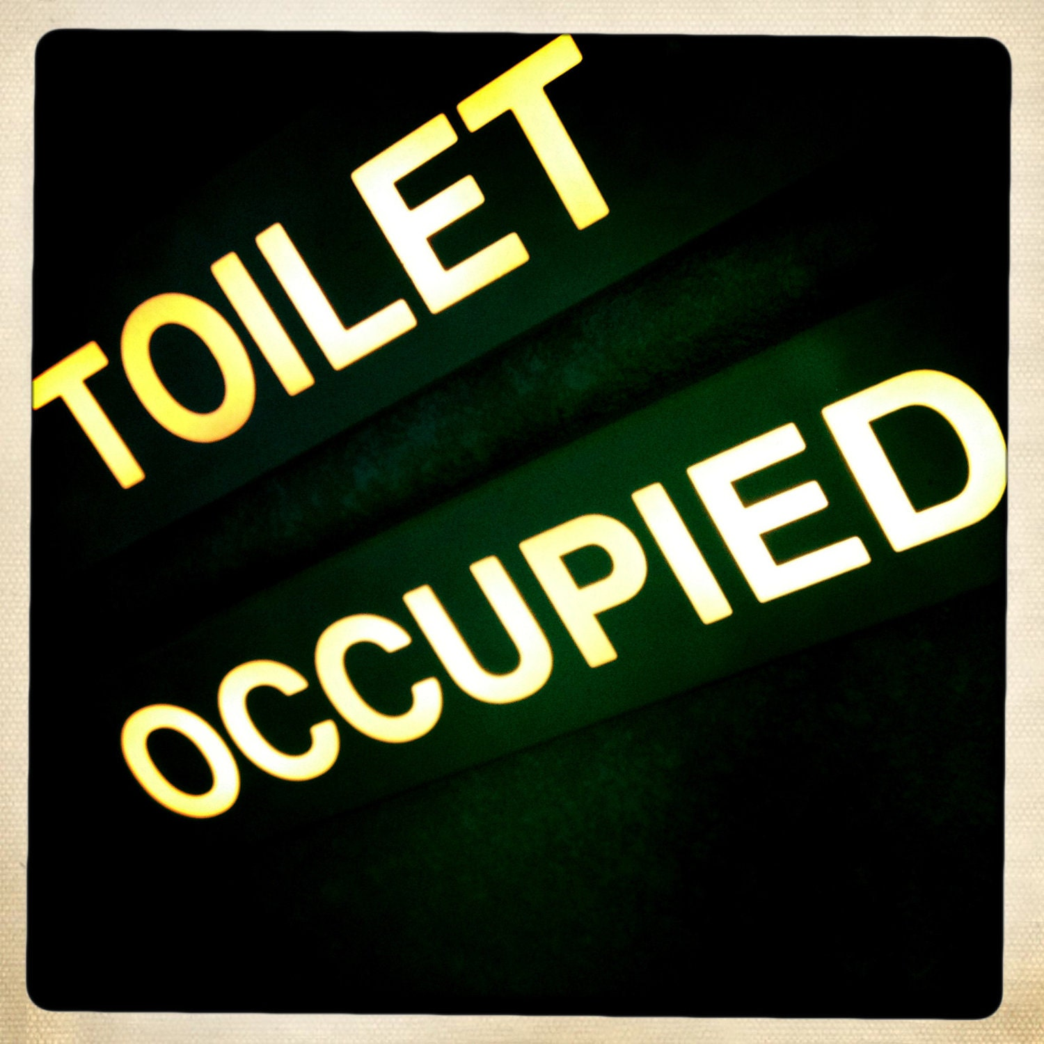 Airplane Toilet Occupied Sign Airline Decor Aviation Decor