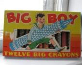 vintage big boy crayons