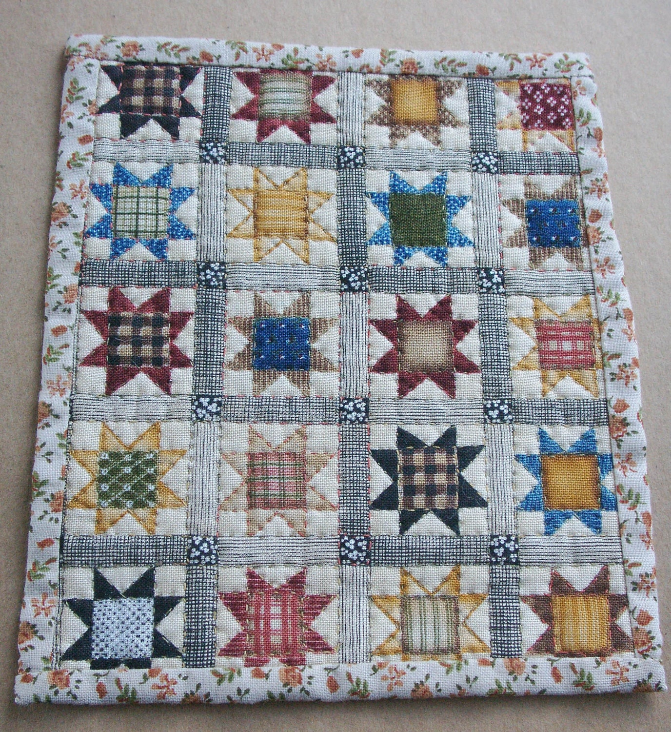Dolls House Miniature Patchwork Quilt By Cherrycroftcrafts