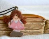 Sweet Country Dolls Necklace - Shabby chic accessory - Rustic - Romantic Country gift for girls