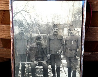Vintage Unknown Soldiers,Soldered glass
