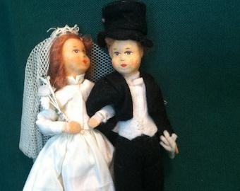 vintage Handmand Bride and Groom 1930s