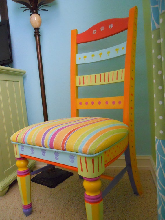 Items similar to Handpainted FUN Chair on Etsy