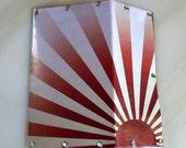 Vinyl Rust Sunburst Wallet - Handmade
