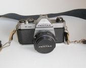 Pentax K1000 Camera, Lens and Shoulder Strap, pentax k1000 camera