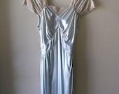 Vintage Wedding Lingerie, elegant night gown and robe