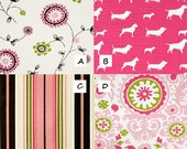 MEDIUM Dog CRATE Cover- choose your fabric from the PINK collection