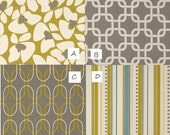 MEDIUM Dog Crate Cover- choose your fabric from the STONE CITRUS Collection