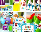Little Monsters Printables - a customized party in one value package. Just Buy, Print, Cut & Create...