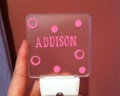 Personalized LED Night Light Wall Plug In