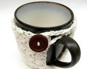 Mug Cozy- Crochet Cotton for Coffee or Tea- Vanilla Bean