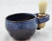 Mens or womens Shaving mug with shaving brush