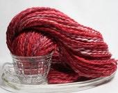 Handspun Yarn - Cardinal - Alpaca, DK weight, 96 yards