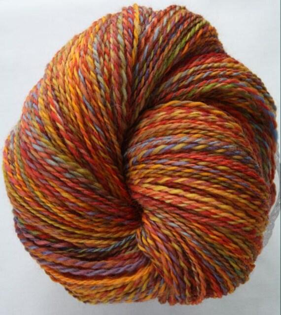Handspun yarn - Sunny Autumn Day - DK Weight, Punta Wool, 350 yards.