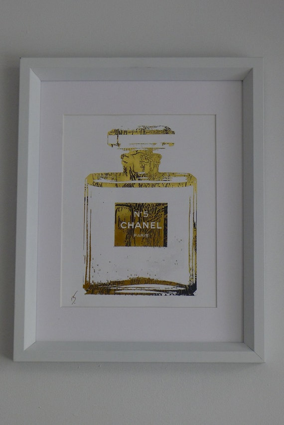 Chanel No. 5 Perfume Bottle 24K Gold Glossy