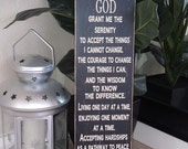 24x9 Custom Wood Sign w/Serenity Prayer, Great Gift Idea, You choose the colors!