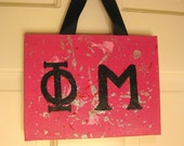 Phi Mu Splatter Paint Canvas