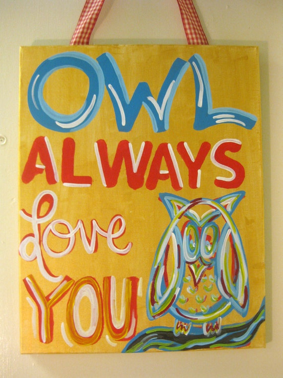 Chi Omega Owl Always Love You Painting