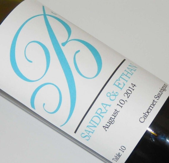 Set of 20 - PERSONALIZED WINE LABEL - Elegance - For Weddings, Anniversaries, Or Any Special Occasion