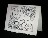 "Artist Greeting Note Card Print ""Seraphim"" Original Art - Congratulations Intensity Passion Design Graduation"