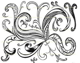 """Original Art Giclee Print """"Wake"""" 11""""x14""""  Design Swirl Awakening"""