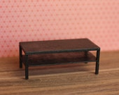 Modern Miniature Coffee Table in Black (inspired by IKEA Lack table)