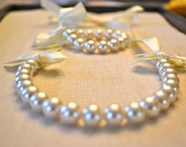 Bella Set: Beautiful Ivory Pearl Necklace and Bracelet
