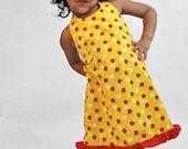 lady bug sundress , sundress , girls dress , ladybug