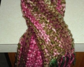 Extra Long Chunky Soft Multi-Color Crochet Scarf