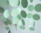 Paper Garland, Mint Green, Pastel Green, WEDDING, NURSERY, Baby, Birthday
