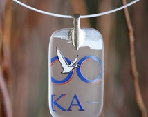SALE - Goose Recycled Vodka Bottle Pendant OO Necklace