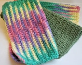 Colorful Crocheted Granny Dishcloths - Set of 3 - Housewarming, Hostess Gift