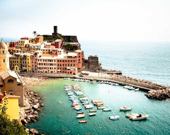 Vernazza Photo Print, Cinque Terre, Italy Wall Art