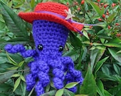 Millie, the Red Hat Society octopus amigurumi