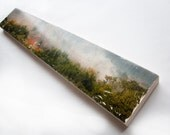 "Landscape Photo Art by Patrick Lajoie - Limited Edition Fine Art Photo Transfer on 6""x36"" Wood Panel"