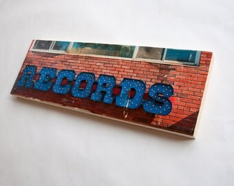 "Records - Limited Edition Fine Art Photo Transfer on 10""x30"" Wood Panel  by Patrick Lajoie"