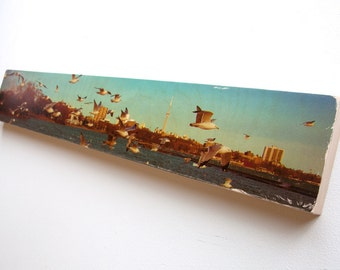 """Urban Photography - Limited Edition Fine Art Photo Transfer on 6""""x36"""" Wood Panel by Patrick Lajoie"""