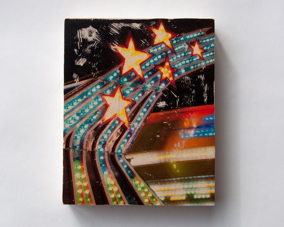 """Starlight - Limited Edition Fine Art Photo Transfer on 8""""x10"""" Wood Panel by Patrick Lajoie"""
