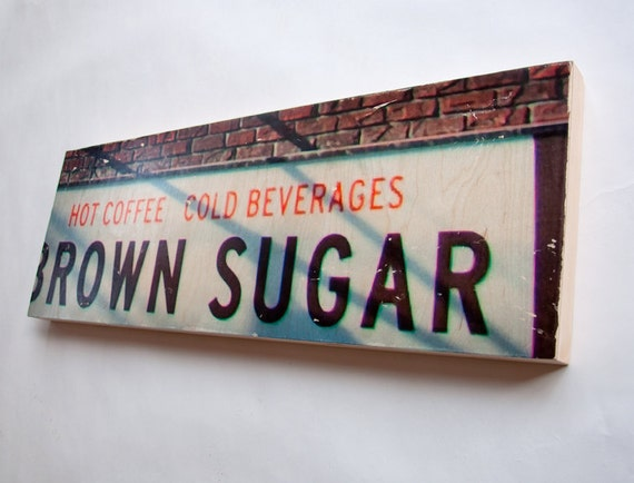 """Brown Sugar - Limited Edition Fine Art Photo Transfer on 10""""x30"""" Wood Panel by Patrick Lajoie"""