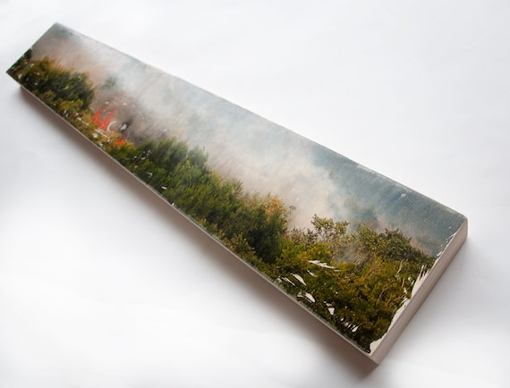 "Landscape Photo Art by Patrick Lajoie - Limited Edition Fine Art Photo Transfer on 6""x36"" Wood Panel"