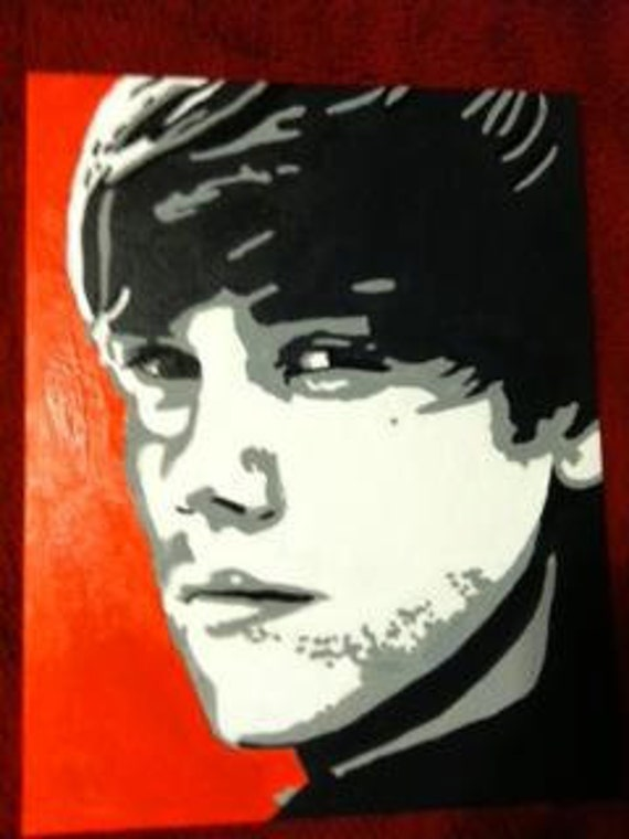 items similar to justin bieber pop art on etsy