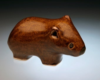 Adorable animals; Australian animal; small animal sculpture; Common Wombats are not so common anymore; great gift for those who love animals