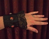 Steampunk Wrist Cuff with Lights & Lace