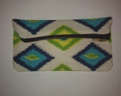 Small Zipped Patterned Pouch for Coins, Make-up, Credit Cards, Etc