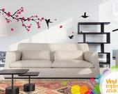 Cherry Blossom Tree Vinyl Wall Sticker