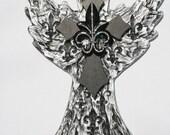 Elegant Fluer De Lis cross