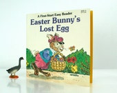 Vintage Book Easter Bunnys Lost Egg An Easy Reader