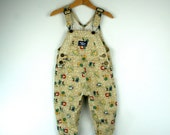 Vintage Baby Oshkosh Overalls in Jungle Theme 2T